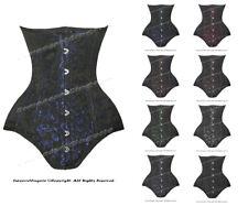 26 doppie stecche d'acciaio girovita treno broccato Underbust corsetto Shaper # 8551 (db-bro)