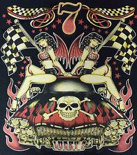 T-shirt #688 Lucky 7, v8 Hot Rod Old School Rockabilly MuscleCar US Car Razor