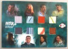 2010 Comic Con DEXTER 8 PIECE COSTUME CARD GREAT ITEM!