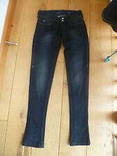 Miss SIXTY estilo historia 2ND Piel Jeans Ajustados Pantalones 23 Negro Lavado Cintura adolescente