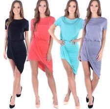 Femmes Mini-robe asymétrique manches courtes cocktail robe de soiree Taille S M L XL, 8232