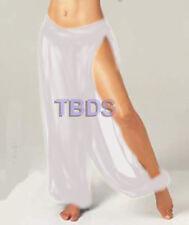 White Women Student 1Slit Harem Yoga Genie Trouser Belly Dance Pant Size S~3XL