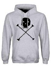 Hoodie Skull & Crossbones Men's Grey