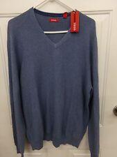 Mens IZOD Blue V-Neck Lightweight Pullover Sweater NEW ~ MSRP $55.00