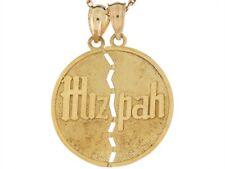 10k or 14k Real Yellow Gold 2.5cm Circle Jewish Huzpah Charm Pendant