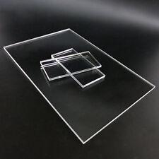 Clear Acrylic Sheet Panel Plexiglass Plastic Plate Thick 2/4/5mm DIY Model Craft
