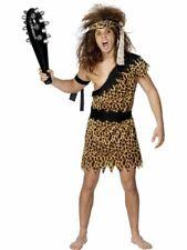 Mens Adults Caveman Neanderthal Prehistoric Fancy Dress Costume Tarzan Outfit