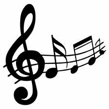 "5"" MUSIC NOTES Vinyl Decal Sticker Car Window Laptop Treble Clef Instrument"