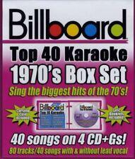 NEW Billboard Top 40 Karaoke: 1970's Box Set (4 CDs) (Audio CD)