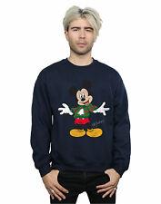 Disney hombre Mickey Mouse Christmas Jumper Camisa De Entrenamiento