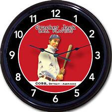Ty Cobb Cracker Jack Ball Players Card Wall Clock Baseball Royston Georgia Peach
