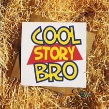 Cool Story Bro Greetings Card - Funny Toy Story Disney Pixar Birthday Card