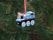 Thomas the Train Custom Wood Ornament with snow&hat