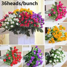 DIY Craft Bridal Bouquet Artificial Flowers Wedding Decoration Small Bud Rose