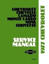 1977 Camaro Chevelle Corvette Monte Nova Shop Service Repair Manual