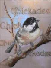 Bird Tile Backsplash Ceramic Mural Hughbanks Chickadee Art DHA061
