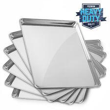 New Commercial Grade Aluminum Baking Sheet Asstd Sizes Quarter to Full - 6 Pans