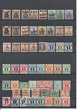 Danzig, Gdansk, diferentes colecciones ex 1-192 + D/p *, sin utilizar con reborde