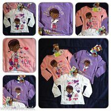 Official Girls Disney Junior Doc McStuffins Tshirt Tee Top T Shirt McStuffin