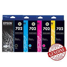 GENUINE Original Epson 702 4 Ink Cartridge Value WorkForce Pro WF-3720 WF-3725