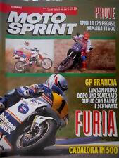 Motosprint 29 1989 GP Francia: Lawson 1° dopo un duello con Rainey e Schwantz