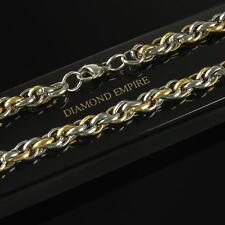 Königskette 8 mm 750er Gold 18 Karat vergoldet Herren Gelbgold Weißgold K2137S