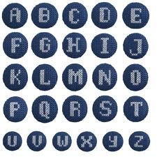 1 x Alphabet Cross Stitch 40 Lignes 25mm Craft Buttons