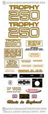 1968-71:Trophy 250cc Singles-RESTORERS DECAL SETS-Triumph TR25 TR25W/SS/T Decals