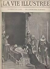 LA VIE ILLUSTREE 1903 N 250 LA MORT DU PAPE LEON XIII
