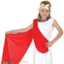 Girls Greek Roman Toga Goddess Book Week Fancy Dress Costume Child Outfit