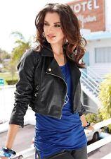 Laura Scott Trendy provokante Biker Jacke Kurz Bolero Leder Imitat Gr.32-44