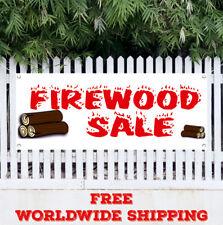Banner Vinyl FIREWOOD SALE Advertising Sign Flag Fire Wood Split Cord Seasonal