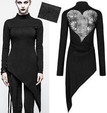 Haut top tunique asymétrique gothique punk lolita coeur dentelle stylé PunkRave
