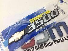 2001-2007 Chevrolet Silverado 3500 Front Door Bowtie 3500 EMBLEM new OE 15126053