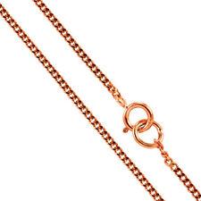 """9ct Rose Gold Diamond Cut Curb Chain 16"""" 18"""" & 20"""""""