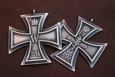 Croix Allemande de 14-18 <---reproduction (Présentée recto-verso)