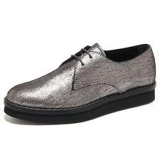 6351N scarpa allacciata TOD'S argento scarpe donna shoes women