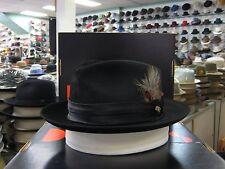 DOBBS TEMPTATION BLACK FUR FELT C-CROWN DRESS HAT