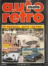 AUTO RETRO 58 DOSSIER 15p AUSTIN HEALEY SPRITE MG MIDGET ASTON MARTIN DB4 GT