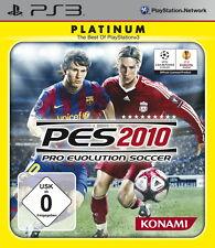 Pro Evolution Soccer 2010 -- Platinum (Sony PlayStation 3, 2010)