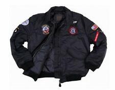 Blouson Aviateur Bombers B-52 TOP GUN Noir Enfant de 4 à 16 ans Avec Porte Clé