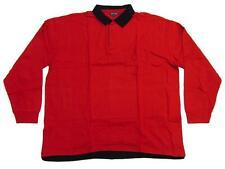 Camiseta Polo en TALLA GRANDE ROJO-NEGRO tiger-trading T 15148-lang 3xl