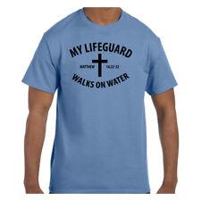 T-Shirt Christian Jesus My Lifeguard Walks on Water Matthew 14:22-32