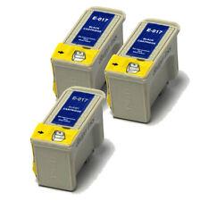 3x negro compatible (no Oem) Cartuchos de tinta para reemplazar T017 Girasol