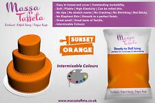 Massa Taffeta | Fondant Sugar paste Ready to Rolled Icing Cake Craft | Orange