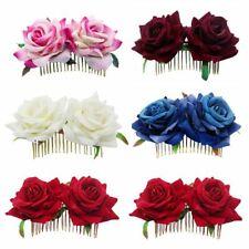 Pelo De La Flor Bridesmaid Hair Jewelry Accesorios De Boda Horquilla Rose Roja