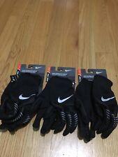 Nike Women's Storm-Fit Hybrid Run Gloves Black/Silver Color, Sizes: S/M/L