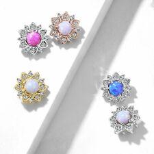 Dermal Anchor - Opal Blume Piercing Aufsatz Zirkonia Micro Dermal Kugel #656
