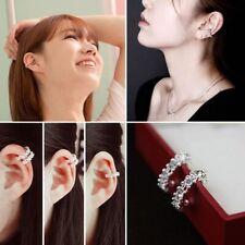 Ear Cuff Women Non Piercing Clip Earrings Rhinestone Cartilage