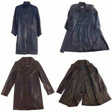 Anjum Women Leather Long Coat, See Description